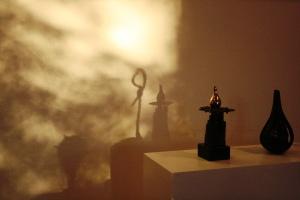 Skyggebilleder af Stines skulpturer